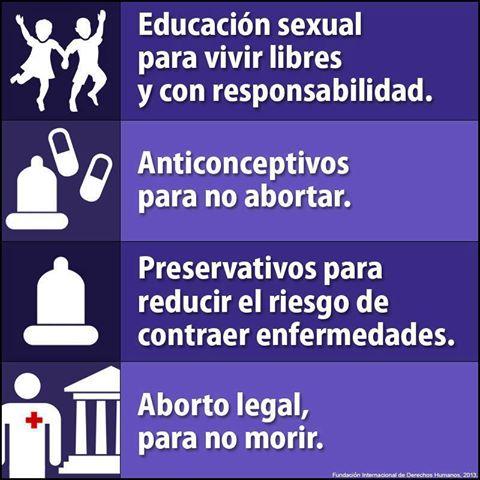 Imagen de la Fundación Internacional de los Derechos Humanos sobre la educación sexual y el aborto