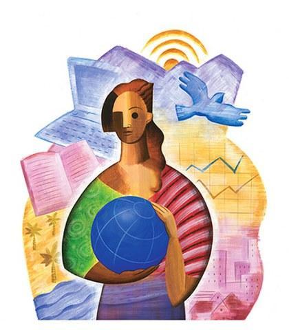 Logo de la Conferencia Mundial de la Mujer Beijing