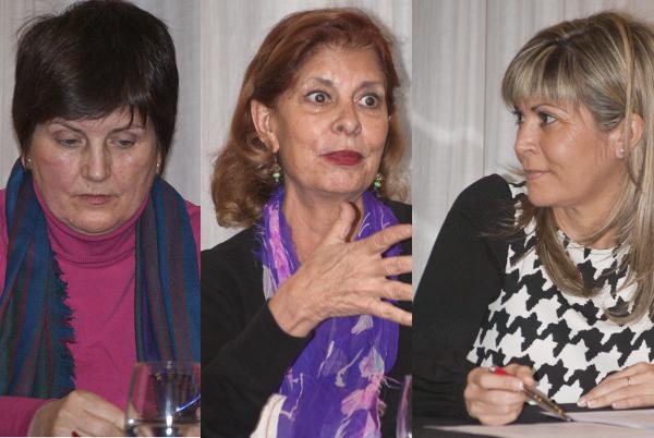 Asunción Ventura, Carmen Alborch y Susana Ros en la charla sobre las mujeres de la Constitución