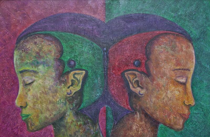 Pintura realizada por Sera LLopis, cedida como imagen de la Jornada Miradas Aliadas
