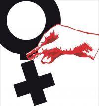 Cartel de Medicos Mundi para la campaña del Día Internacional de Tolerancia Cero con la Mutilación Genital Femenina