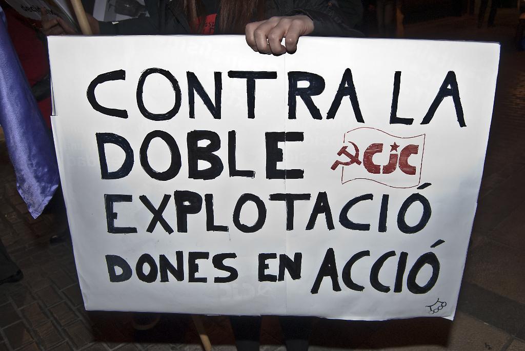Manifestación del 8 de marzo, día internacional de las mujeres en Castellón